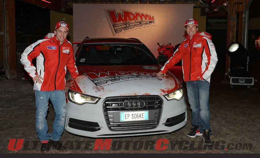 Ducati MotoGP's Hayden & Hayden Arrive at Wrooom 1