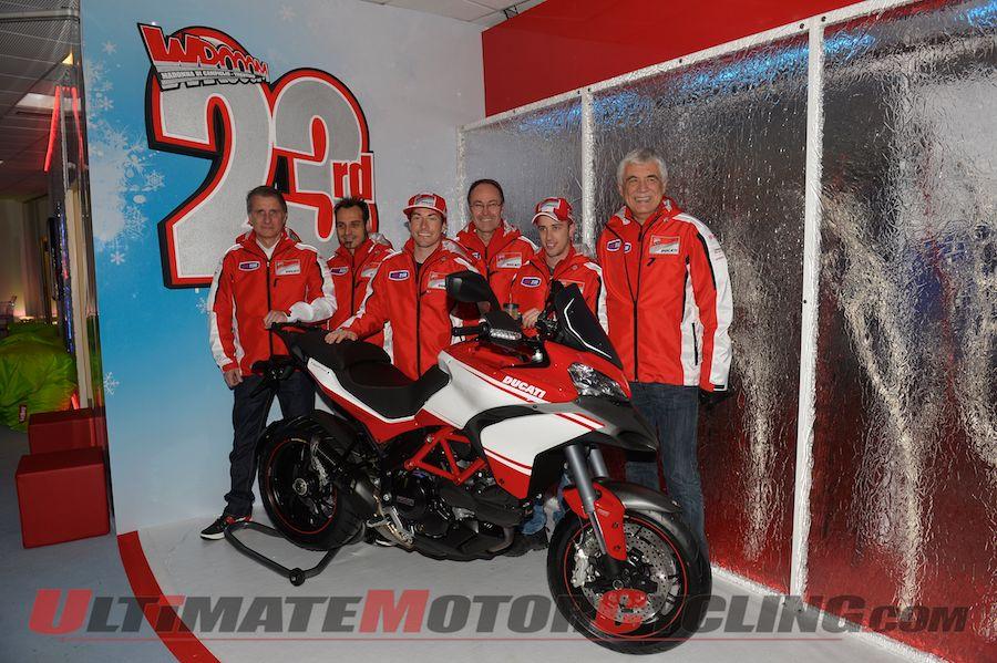 Ducati MotoGP's Hayden & Hayden Arrive at Wrooom 4