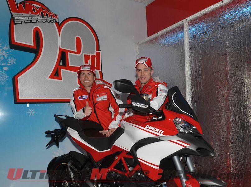 Ducati MotoGP's Hayden & Hayden Arrive at Wrooom