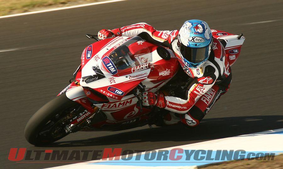 Ducati's Checa Wins Phillip Island Superbike Superpole