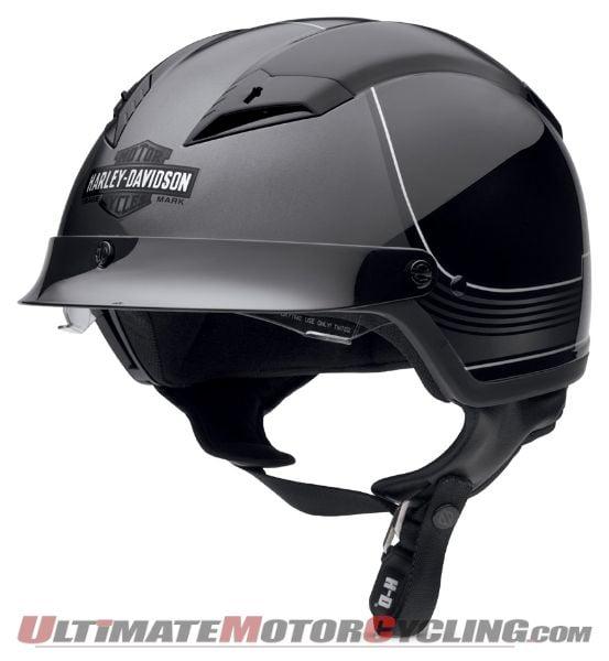 Harley Releases Men's Milestone Half Helmet with Sun Visor