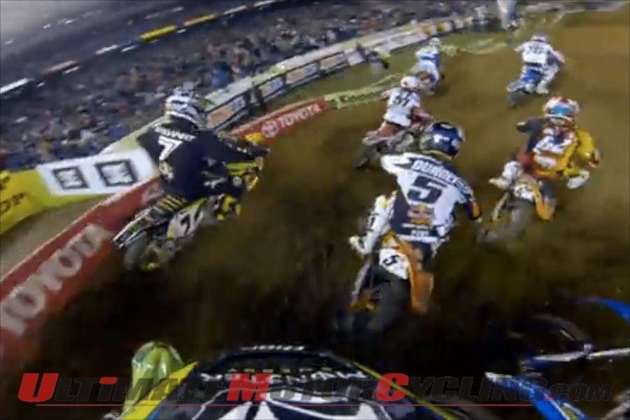 Kawasaki's Villopoto   POV Video at San Diego Supercross