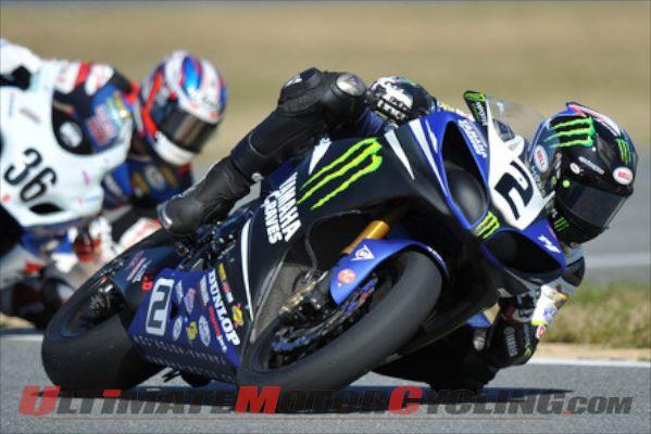 Yamaha's Josh Herrin at Daytona SuperBike race