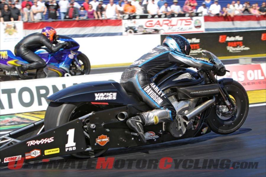 New Harley V-Rod Drag Bikes Debut at Gainsville