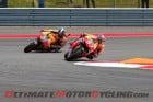 Repsol Honda's Marc Marquez leads Dani Pedrosa