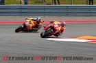 Repsol Honda's Marc Marquez leads teammate Dani Pedrosa at COTA