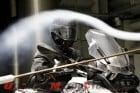 BMW Motorrad System 6 Helmet in wind testing