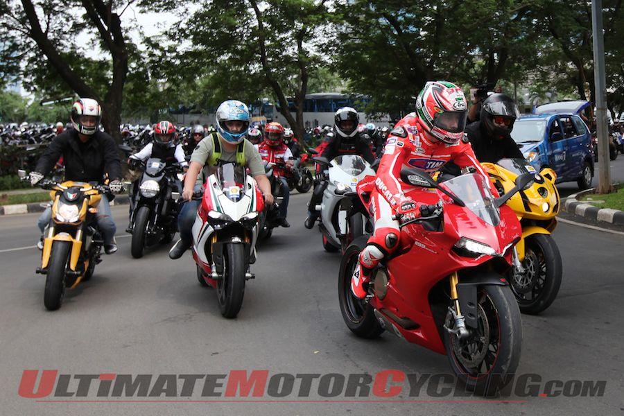 Hayden Pilots Ducati 1199 in Jakarta to Launch Shell Campaign
