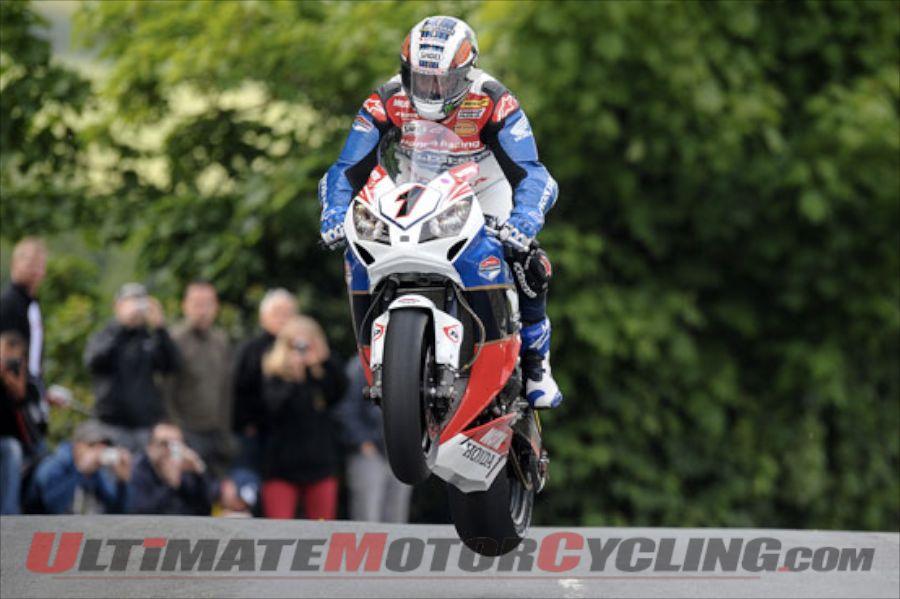Honda TT Legends rider John McGuinness at Isle of Man TT