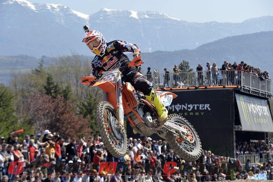 Red Bull KTM's Antonio Cairoli at Arco di Trento FIM MX1