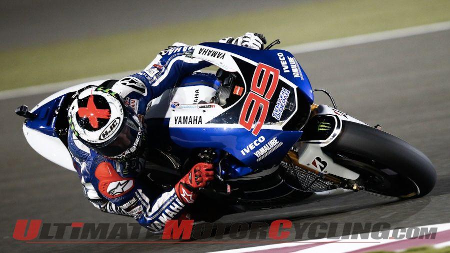 2013 Qatar MotoGP: Yamaha's Lorenzo Leads First Free Practice