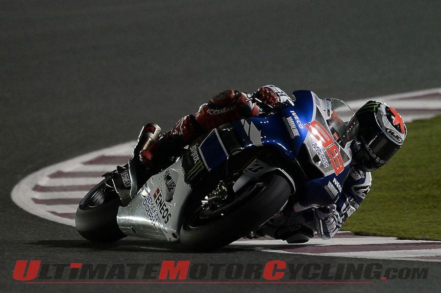 Amazing 2013 Qatar MotoGP  Yamaha39s Lorenzo Claims Pole