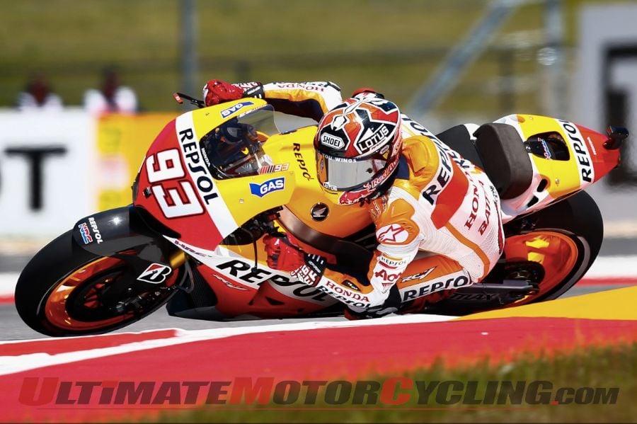 Austin MotoGP: Honda's Marquez Dominates Friday Practice