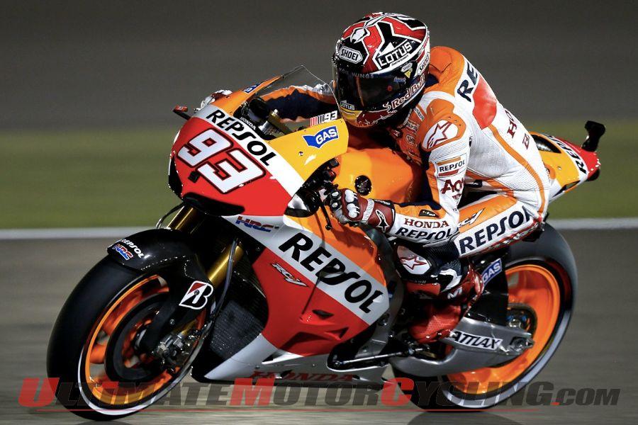 2013 Qatar MotoGP | Honda's Marquez Tops Free Practice 2