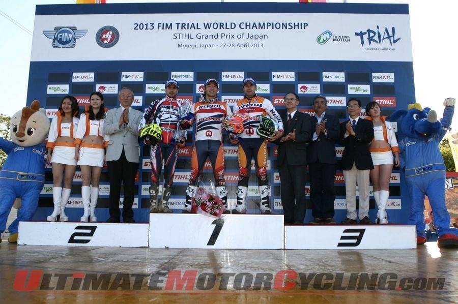 2013 Motegi FIM World Championship Trial Results