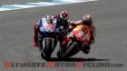 Yamaha Factory Racing's Jorge Lorenzo and Repsol Honda's Dani Pedrosa