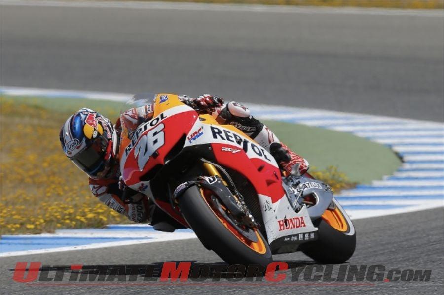 Repsol Honda's Dani Pedrosa at Jerez MotoGP