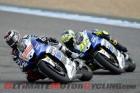 Yamaha's Jorge Lorenzo leads Valentino Rossi