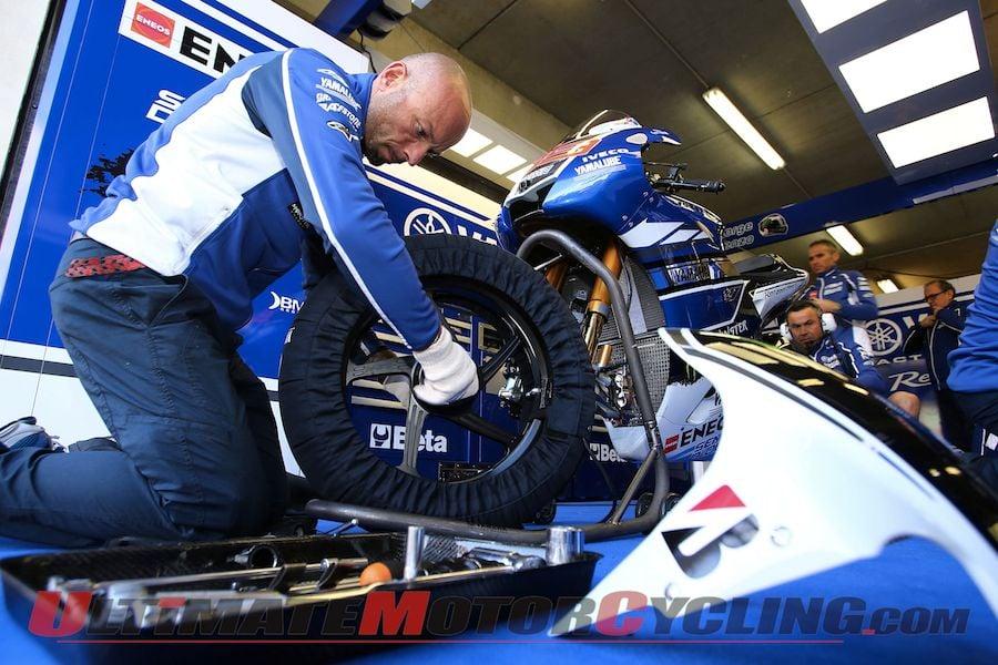 Yamaha Factory Racing's Jorge Lorenzo's YZR-M1