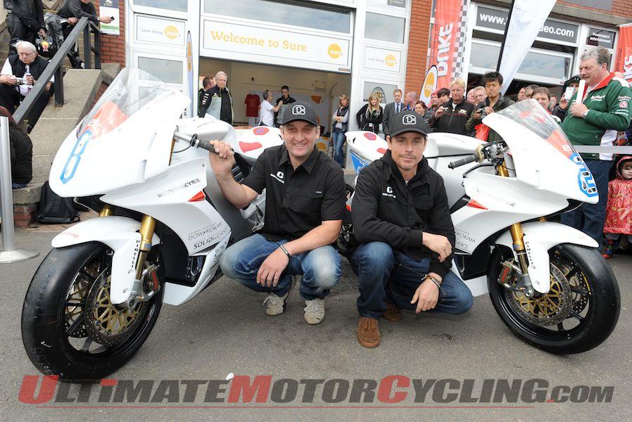 MotoCzysz Unveils 2013 E1pc Isle of Man TT Bikes