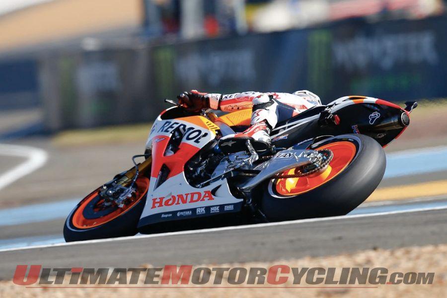 Le Mans MotoGP: Pedrosa Tops Lorenzo & Rossi at FP1