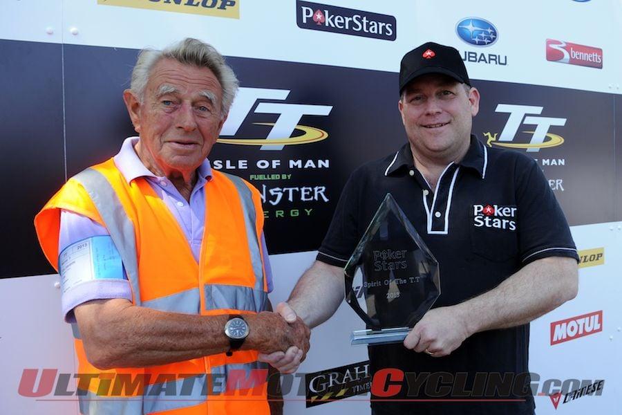 Eric Alexander, who won the 2013 Spirit of TT Award
