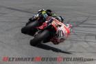 Repsol Honda's Marc Marquez behind Monster Tech 3 Yamaha's Cal Crutchlow