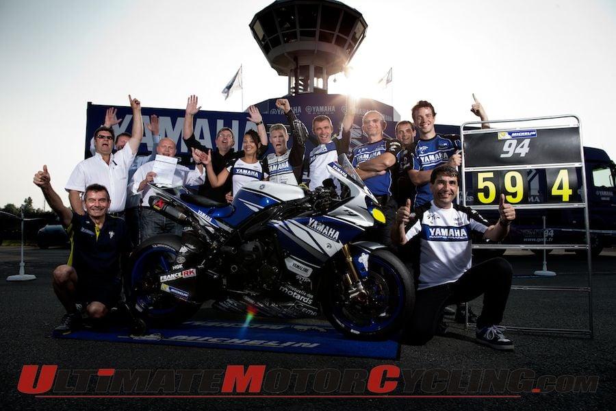 Michelin GMT 94 Yamaha team at Circuit Carole