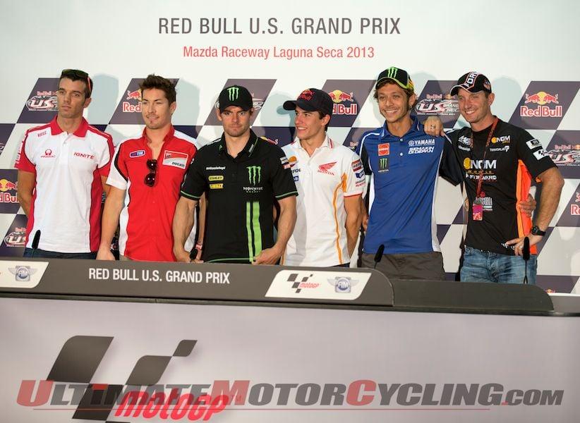 Hayden & Rossi Highlight Laguna Seca MotoGP Press Conference