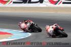 LCR Honda's Stefan Bradl leads Repsol Honda's Marc Marquez