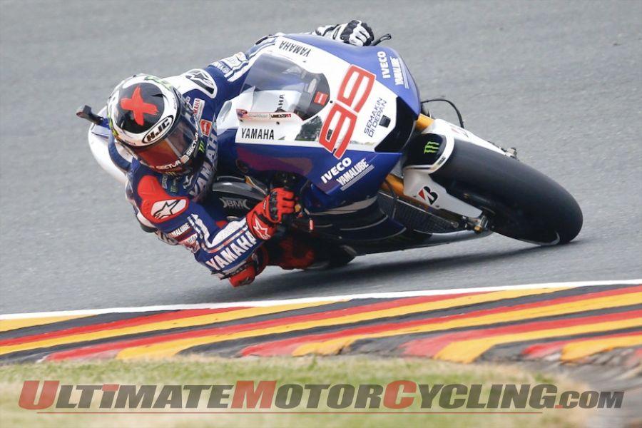 Sachsenring MotoGP: Despite Collarbone, Lorenzo Leads FP1