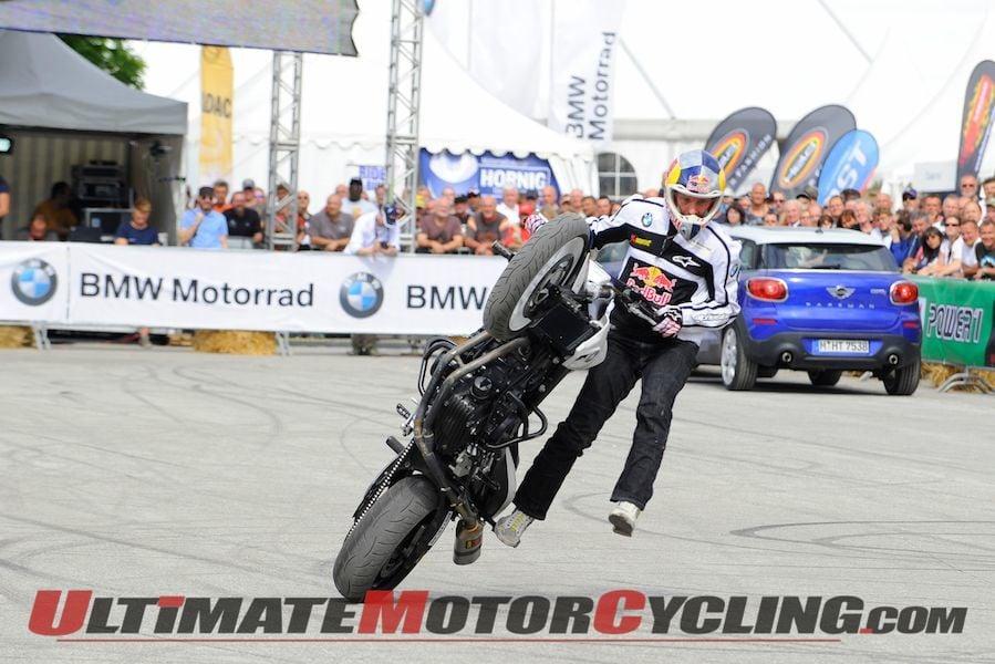 Stunt Motorcyclist Chris Pfeiffer at BMW Motorrad Days (Video)
