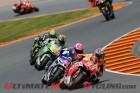 Repsol Honda's Marc Marquez leads the Sachsenring MotoGP grid