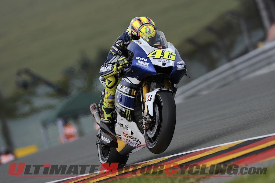 Yamaha's Valentino Rossi at Sachsenring MotoGp