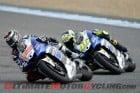 Yamaha Factory Racing's Jorge Lorenzo and Valentino Rossi