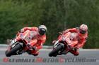 Ducati Team's Andrea Dovizioso leads teammate Nicky Hayden