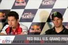 Nicky Hayden and Cal Crutchlow at Laguna Seca MotoGP Press Conference (photo by Ara Ashjian)