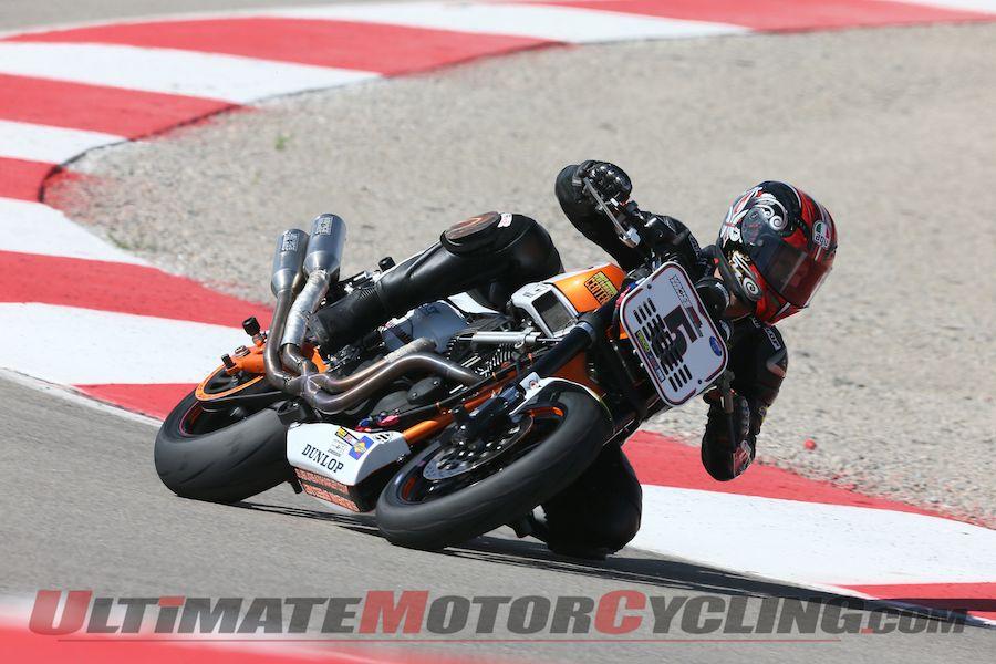 Steve Rapp at AMA Pro Vance & Hines Harley-Davidson race at Miller Motorsports Park