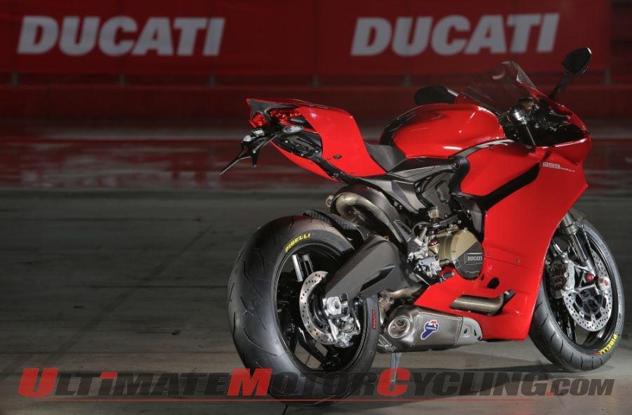 Ducati 899 Panigale Shod with Pirelli Diabolo Rosso Corsa Tires