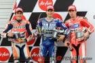 2013 Motegi MotoGP qualifying podium