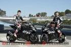 Kawasaki Racing's Loris Baz and Tom Sykes