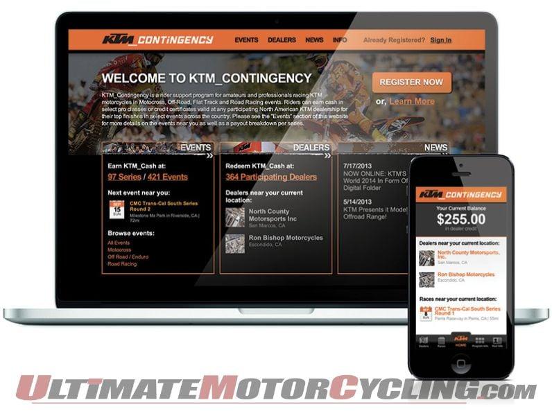 2014 KTM Contingency Program Now at KTMCash.com