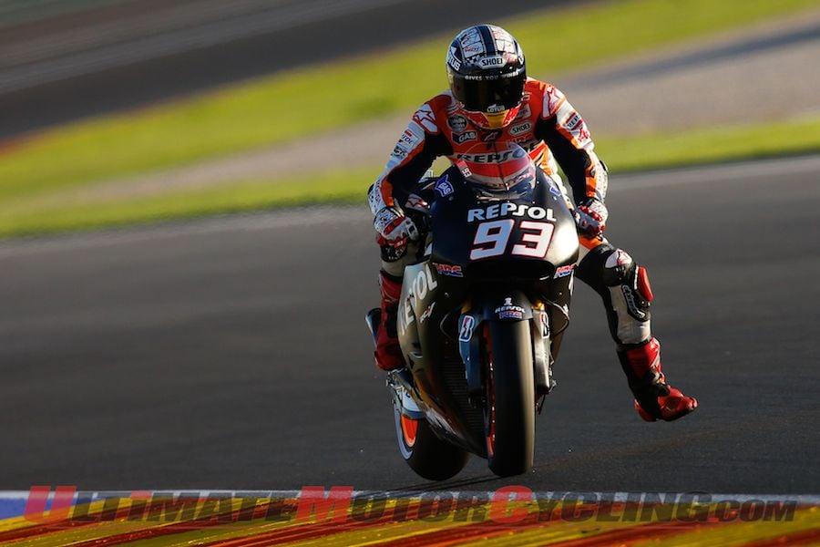 Marquez Tops Day 2 of Valencia MotoGP Post-Season Testing