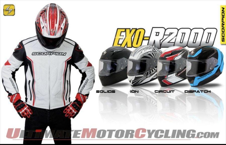 Scorpion's New EXO-R2000 Motorcycle Helmet Arrives