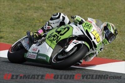 GO&FUN Honda Gresini MotoGP Pilot Alvaro Bautista donning the Scorpion EXO-R2000
