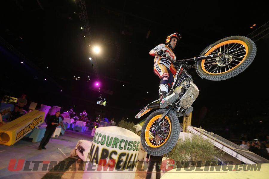 Repsol Honda's Toni Bou at Marseille X-Trial