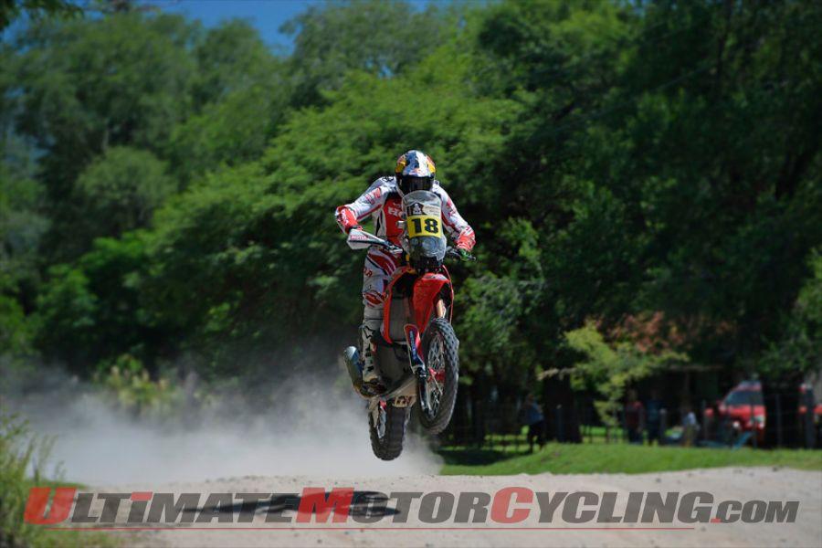 Dakar 2014 Stage 2 Motorcycle Results | Honda's Sunderland Fastest