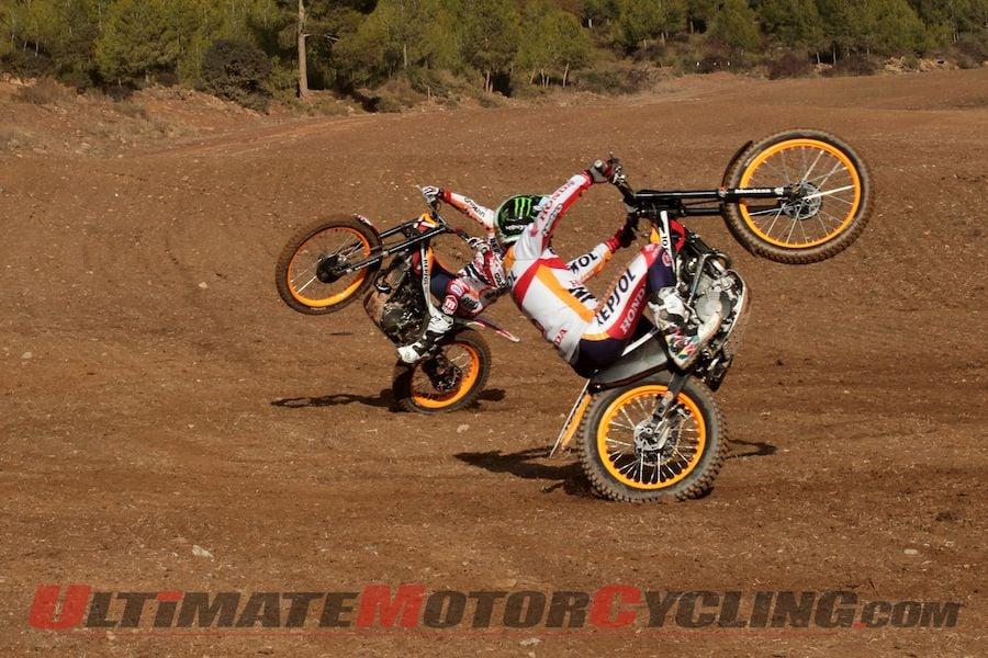 MotoGP's Marc Marquez & Dani Pedrosa   Wheelie Trials Training Video
