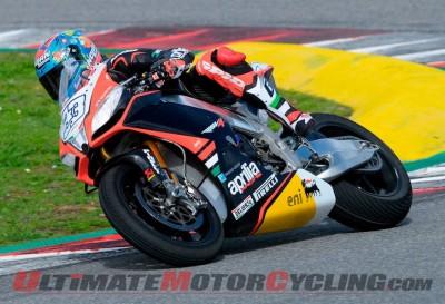Aprilia Racing's Marco Melandri