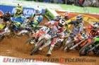 The opening lap of Atlanta Supercross